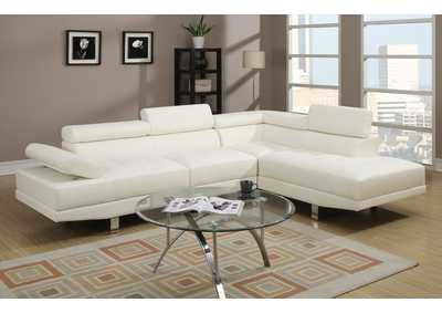 White 2 Piece Sectional
