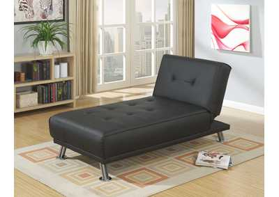 Black Adjustable Chaise