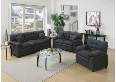 Ash 3 Pcs Sofa Set
