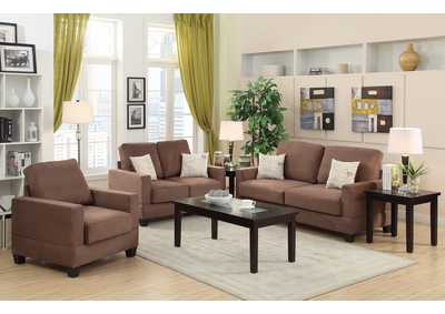 Peat 3 Pcs Sofa Set