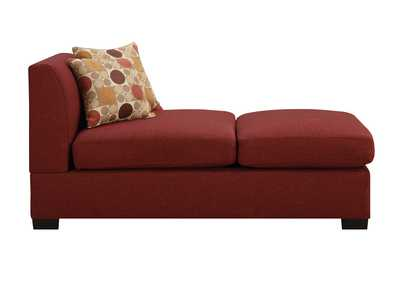 Red Chaise w/Pillows