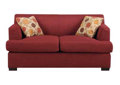 Red Loveseat w/pillows