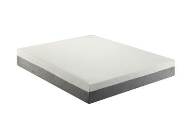 White Eastern King Memory Foam Mattress