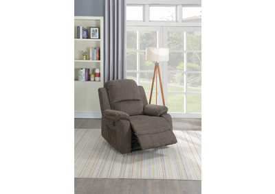 Taiyus Tan Velvet Power Recliner