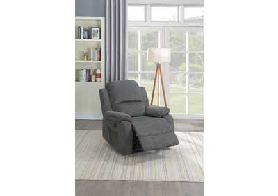 Taiyus Slate Velvet Power Recliner