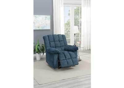 Taiyus Dark Blue Chenille Power Recliner