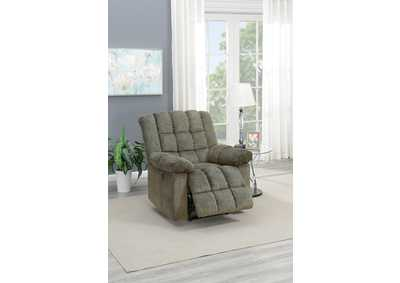 Taiyus Tan Chenille Power Recliner