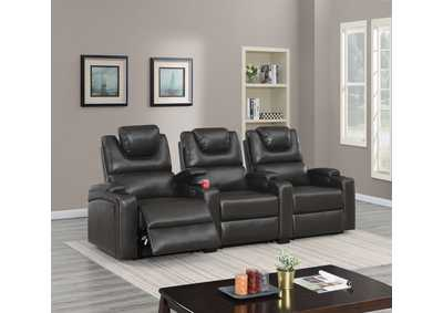 Jovfur Espresso Two Straight Arm Power Recliner