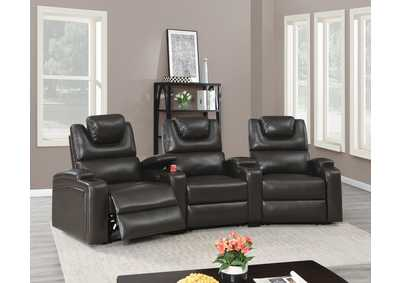 Jovfur Espresso Two Sector Arm Power Recliner