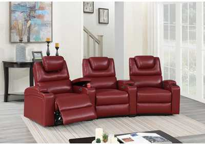 Jovfur Red Two Sector Arm Power Recliner