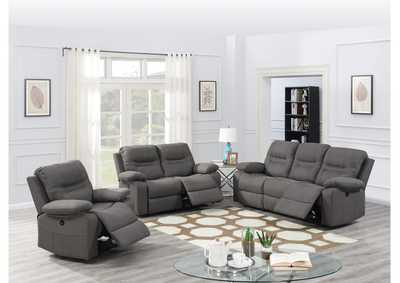 Hainin Slate Blue Power Recliner