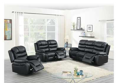 Image for Hainin Black Power Recliner