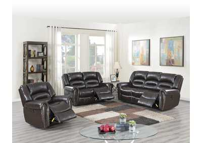 Image for Zoyart Brown Power Recliner