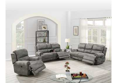 Image for Hainin Slate Grey Power Loveseat W/Console