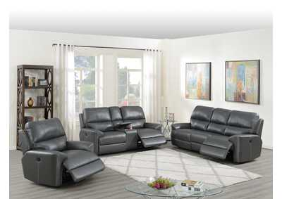 Image for Hainin Grey Power Recliner