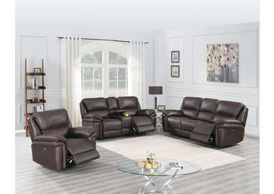 Image for Jovfur Dark Brown Power Recliner