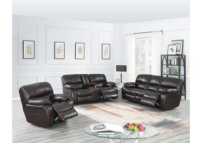 Image for Zoyart Dark Brown Power Recliner