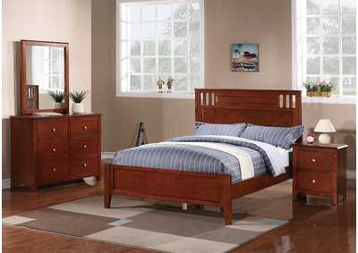 Medium Oak Full Bed