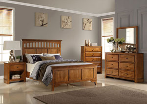 Pine California King Bed