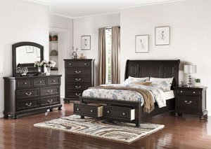 Antique Espresso Queen Bed