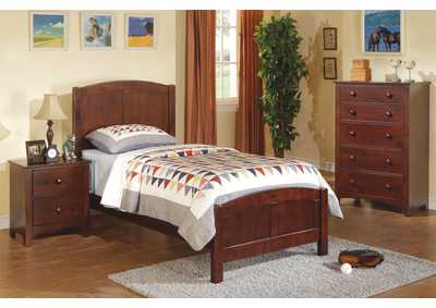 Dark Oak Twin Bed