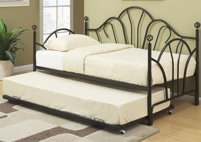 Black Day Bed w/Trundle