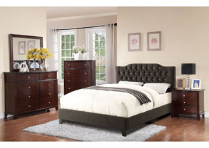 Gray Upholstered Queen Bed