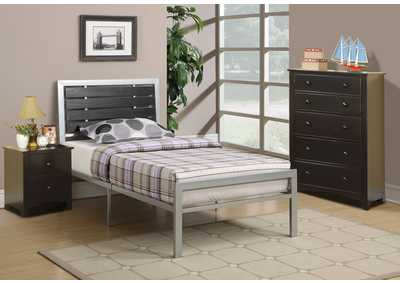 Silver Twin Bed