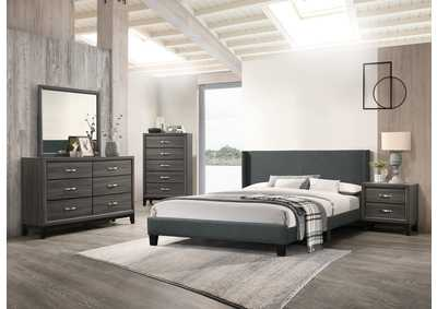 Charcoal California King Bed
