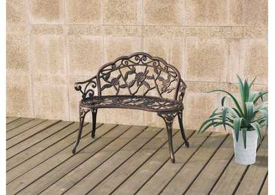 Brown Outdoor Bench
