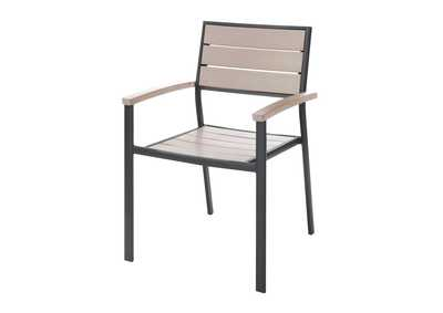 Black/Beige Stackable Chair
