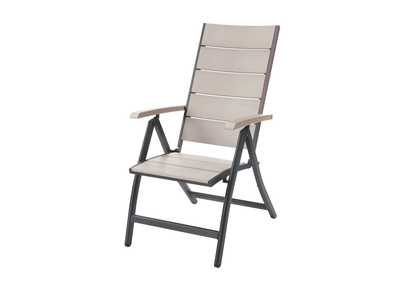 White/Grey Foldable Chair