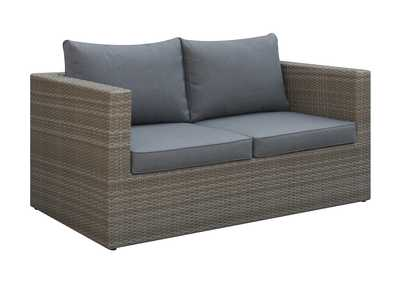 Image for Grey/Brown Outdoor Loveseat