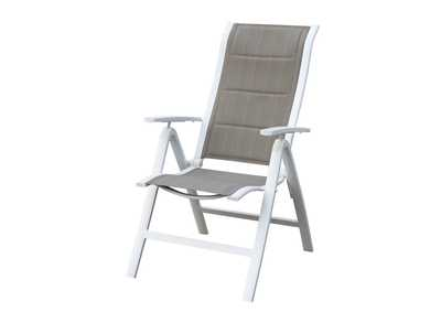 White/Grey Outdoor Chair