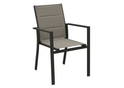 Black/Beige Stackable Aluminium Textilene Chair