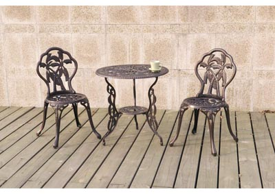 Copper Rose 3 Piece Bistro Set