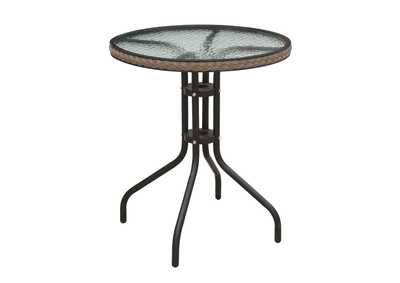 Image for Black/Brown Outdoor Table