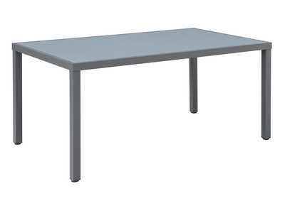 Image for Grey Aluminium Dining Table w/Glass