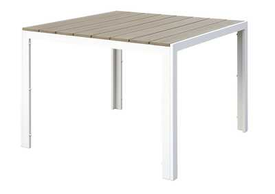 Image for White/Beige Outdoor Table
