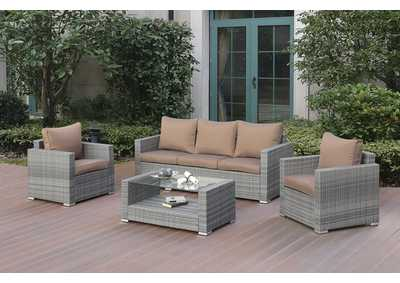 Image for Grey/Brown 4 Piece Conversation Set