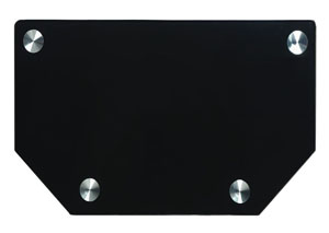 Black/Glass Metal TV Stand TV Stand