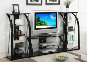 Black Glass TV Stand TV Stand