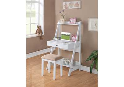 White Writing Desk & Stool