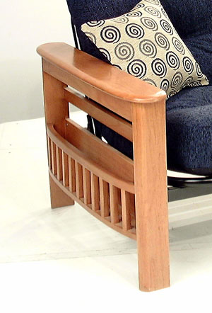 221 WOODEN MAGAZINE RACK ARM