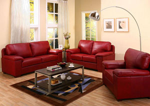 Roses Flooring And Furniture Bonaventure Red Leather Sofa Loveseat