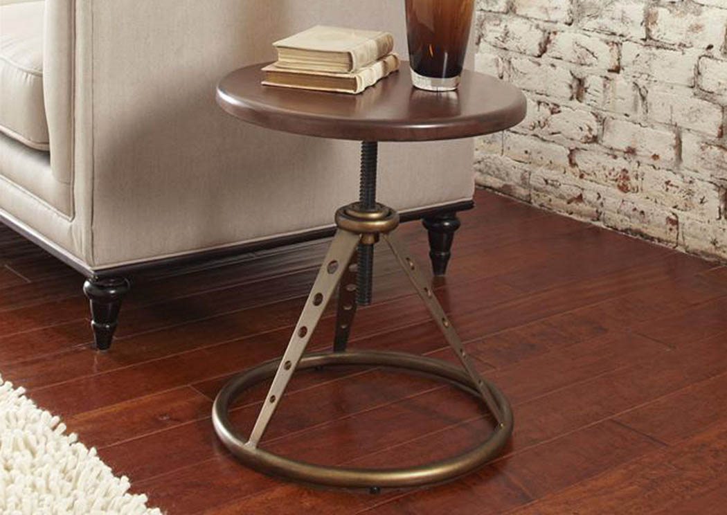 Modern Harmony Adjustable Accent Table w/Stool,Pulaski Furniture