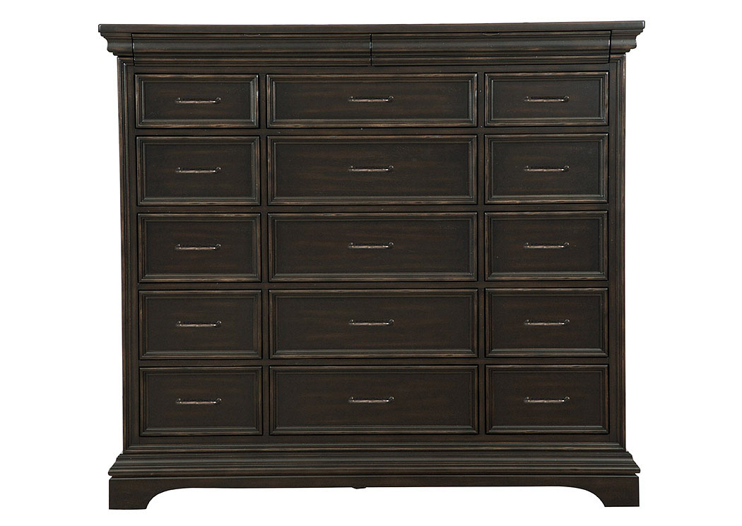 Caldwell Black Master Chest,Pulaski Furniture