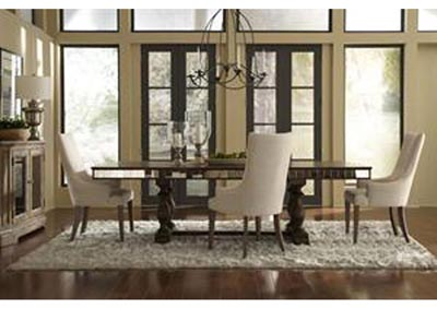 Accentrics Home Alekto Extension Dining Table w/4 Arm Chairs