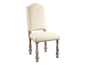 Dione White Side Chair