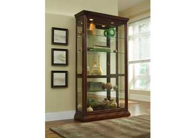 Brown Two Way Sliding Door Curio